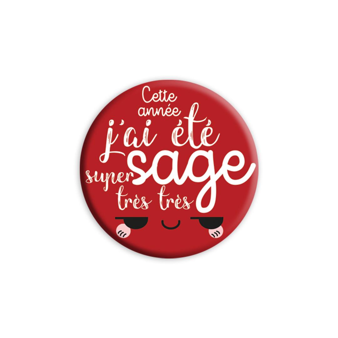 ★ Les Badges de Noël ★ Cette année, j'ai été super très très sage! - version rouge