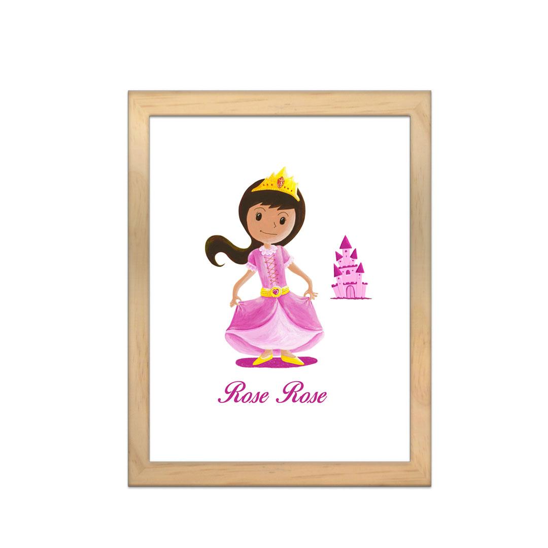 Cadre à personnaliser - Miniz & Vous - RoseRose la princesse