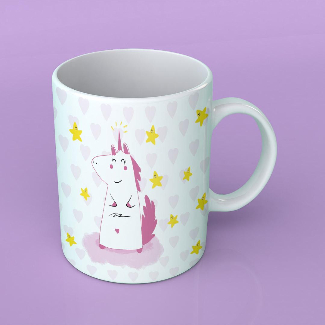 Mug – Je vois la vie en Licorne