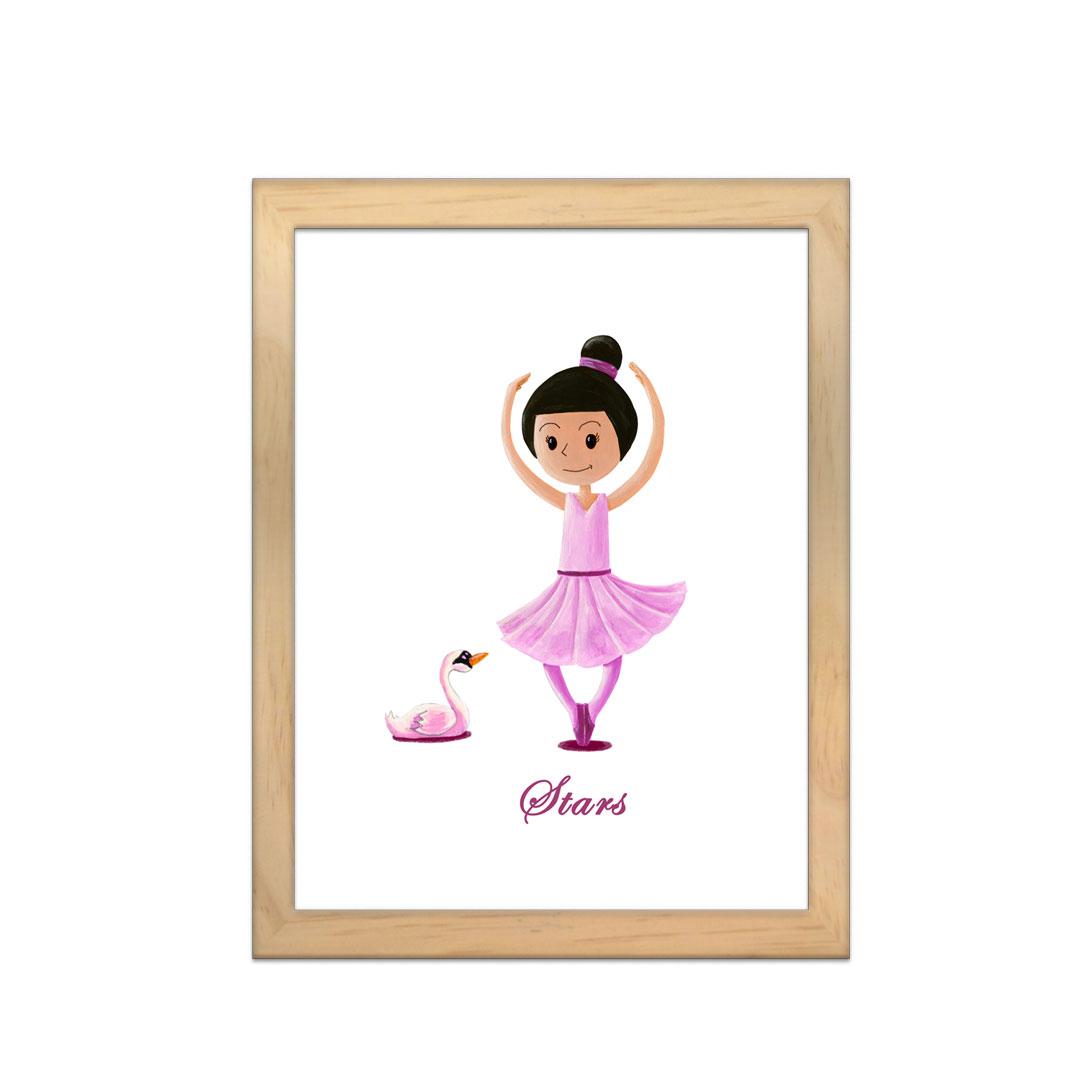 Cadre à personnaliser - Miniz & Vous - Stars La danseuse