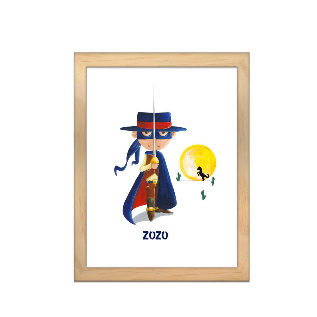 Cadre à personnaliser - Miniz & Vous - Zorro dit Zozo le vengeur masqué