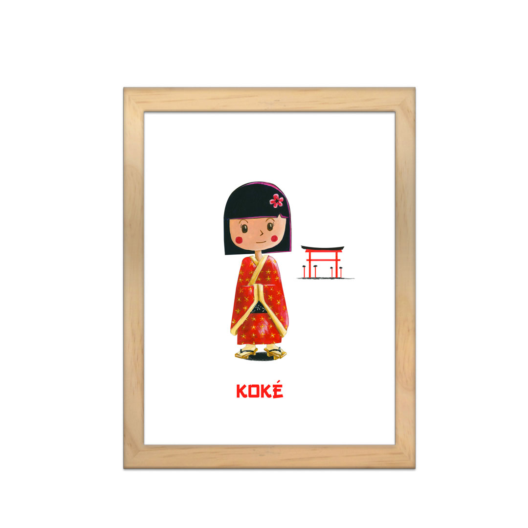 Cadre à personnaliser - Miniz & Vous - Koké la poupée Japonnaise