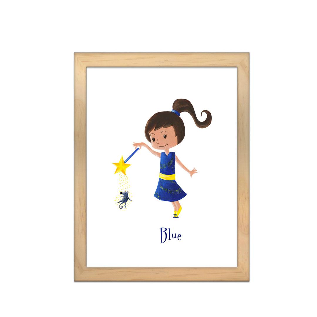 Cadre à personnaliser - Miniz & Vous - Blue la fée