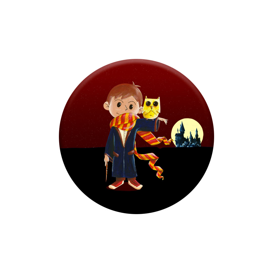 Miniz Badge Magic inspiré d\'Harry Potter