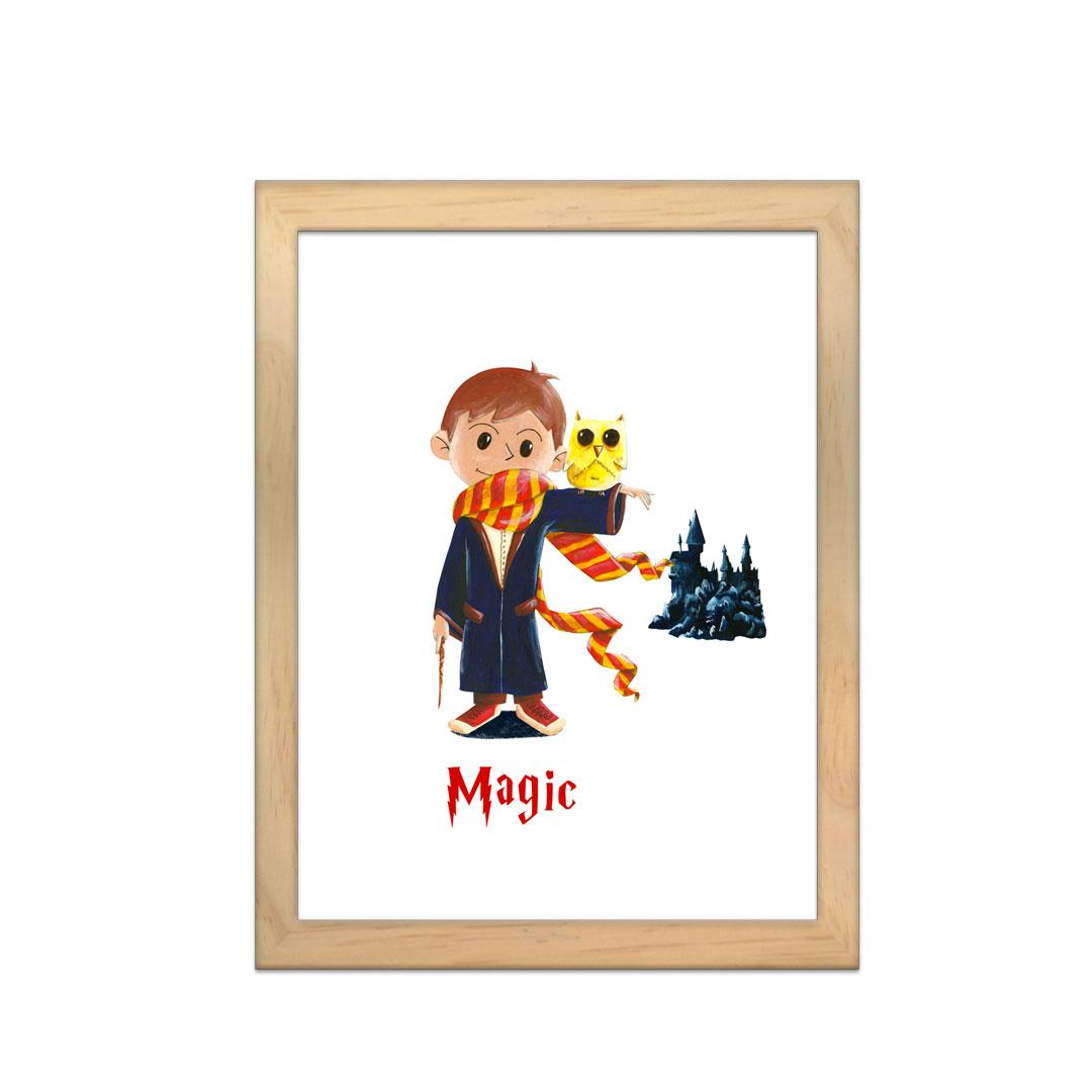 Cadre à personnaliser - Miniz & Vous - Magic le magicien inspiré de Harry Potter