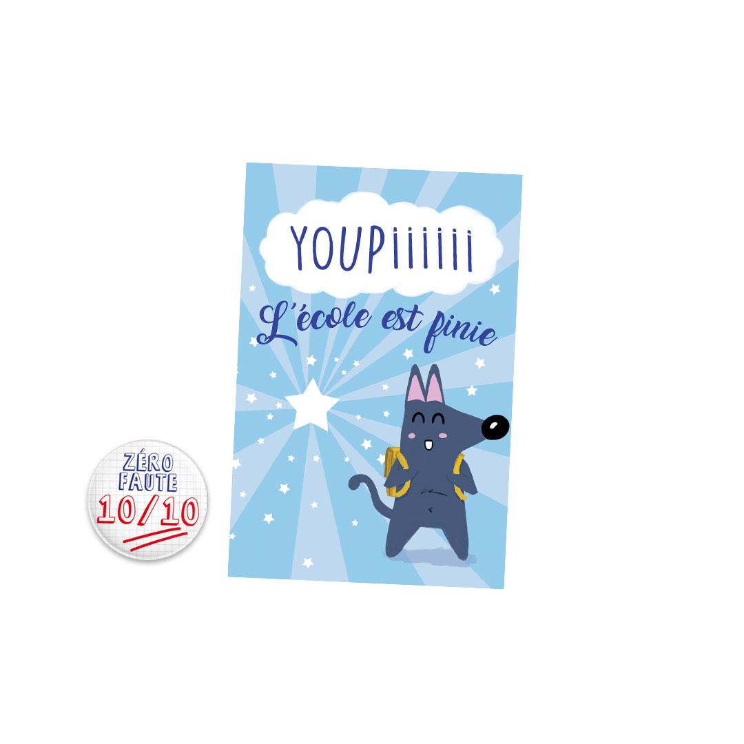 Kit Youpiii Zéro Faute 10/10 – Carte et badge