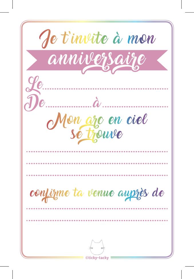6 Choubiz Invit Et Enveloppes Invitation Anniversaire Lilicoeur La Licorne