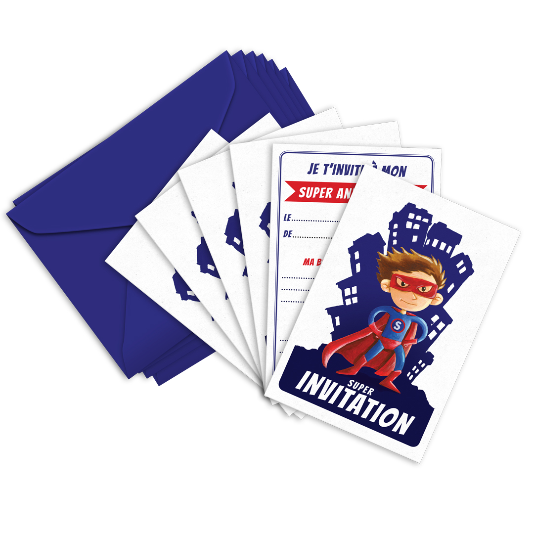 Invitation Anniversaire Super Hero Ticky Tacky