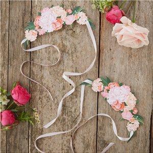 Diadème de fleurs en papier
