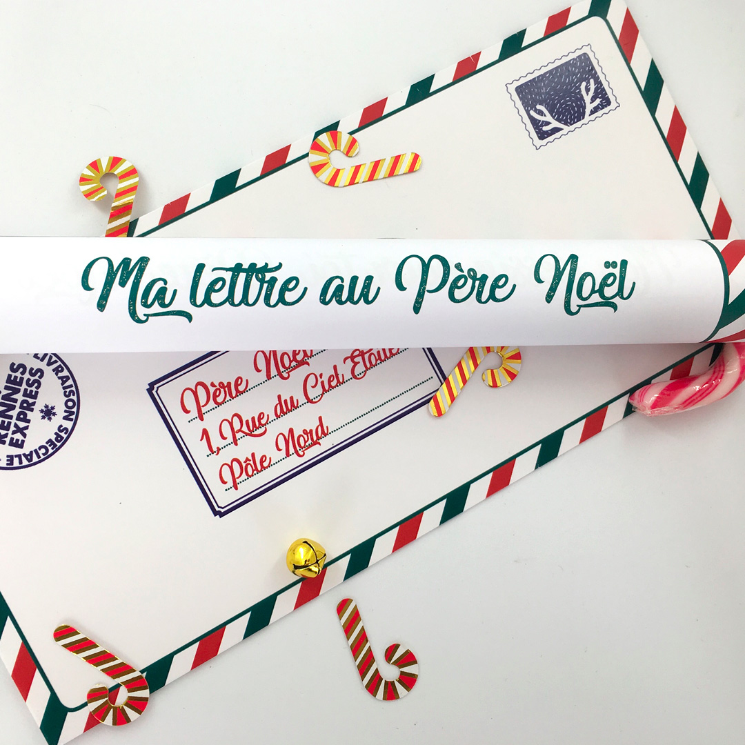 Kit : Ma Lettre au Père Noël - version candy