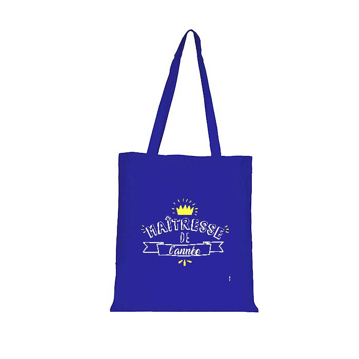 Tote Bag Maîtresse de l\'année - version bleue