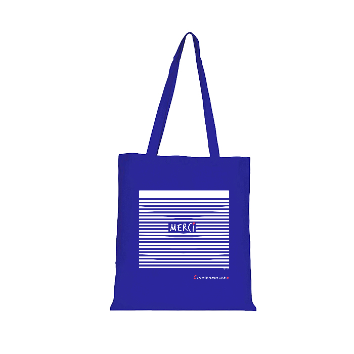 Tote Bag Merci impression recto/verso