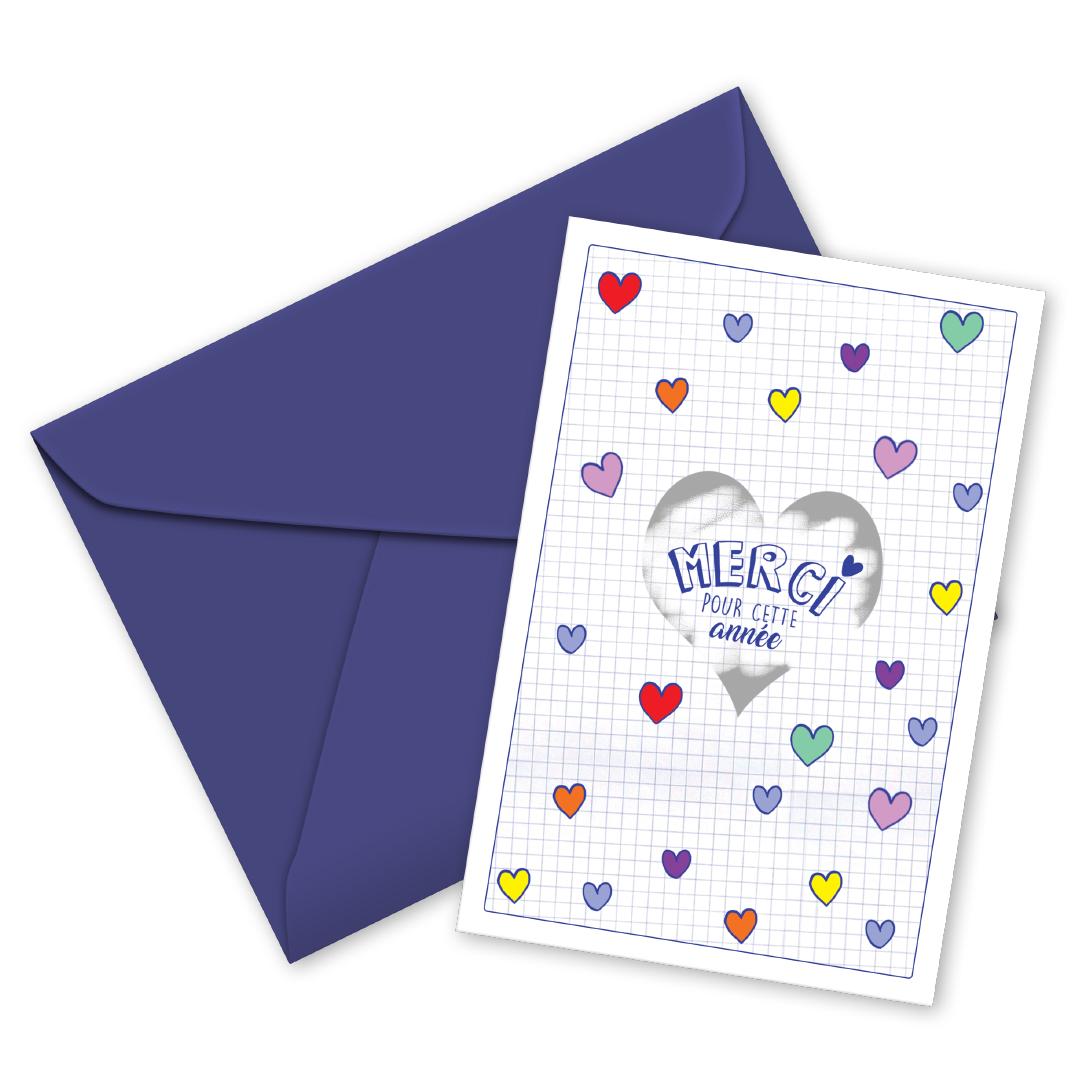 Carte à gratter coeur Merci pour cette année