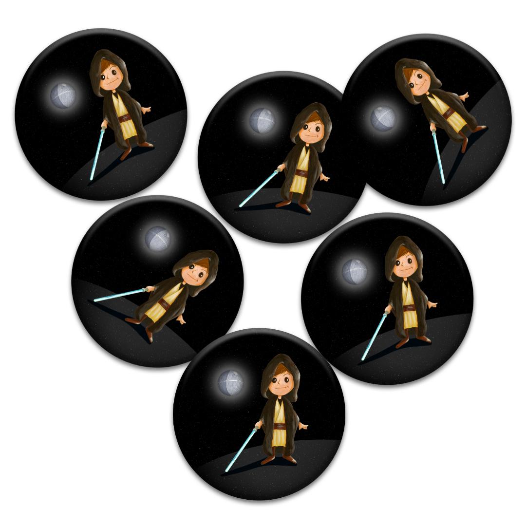 Cadeaux d\'invités pour un anniversaire enfants : 6 badges Jedi inspirés de Star Wars …