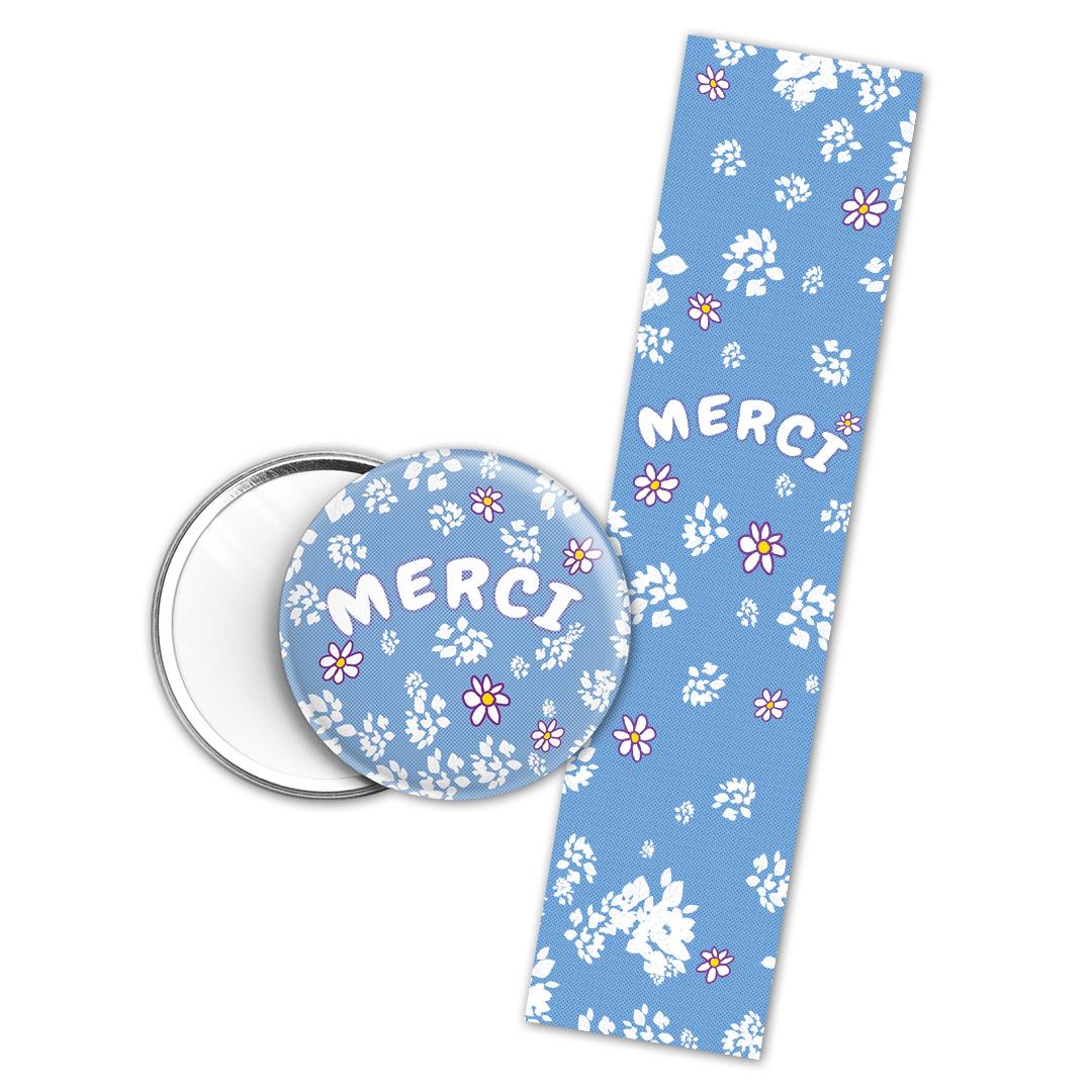 Kit cadeau Merci : marque page et miroir