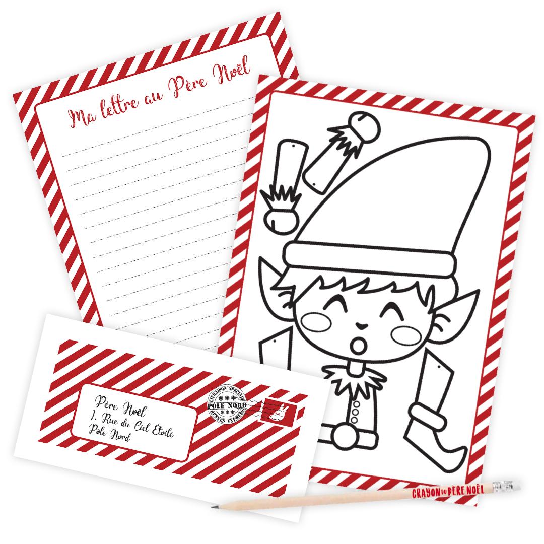 Kit : Ma lettre au Père Noël - version rouge