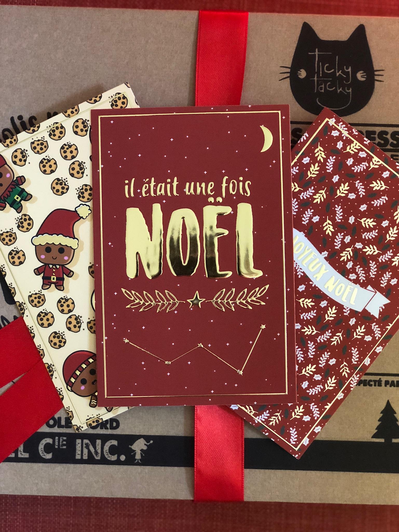 Lot de 3 cartes de Noël avec ses enveloppes