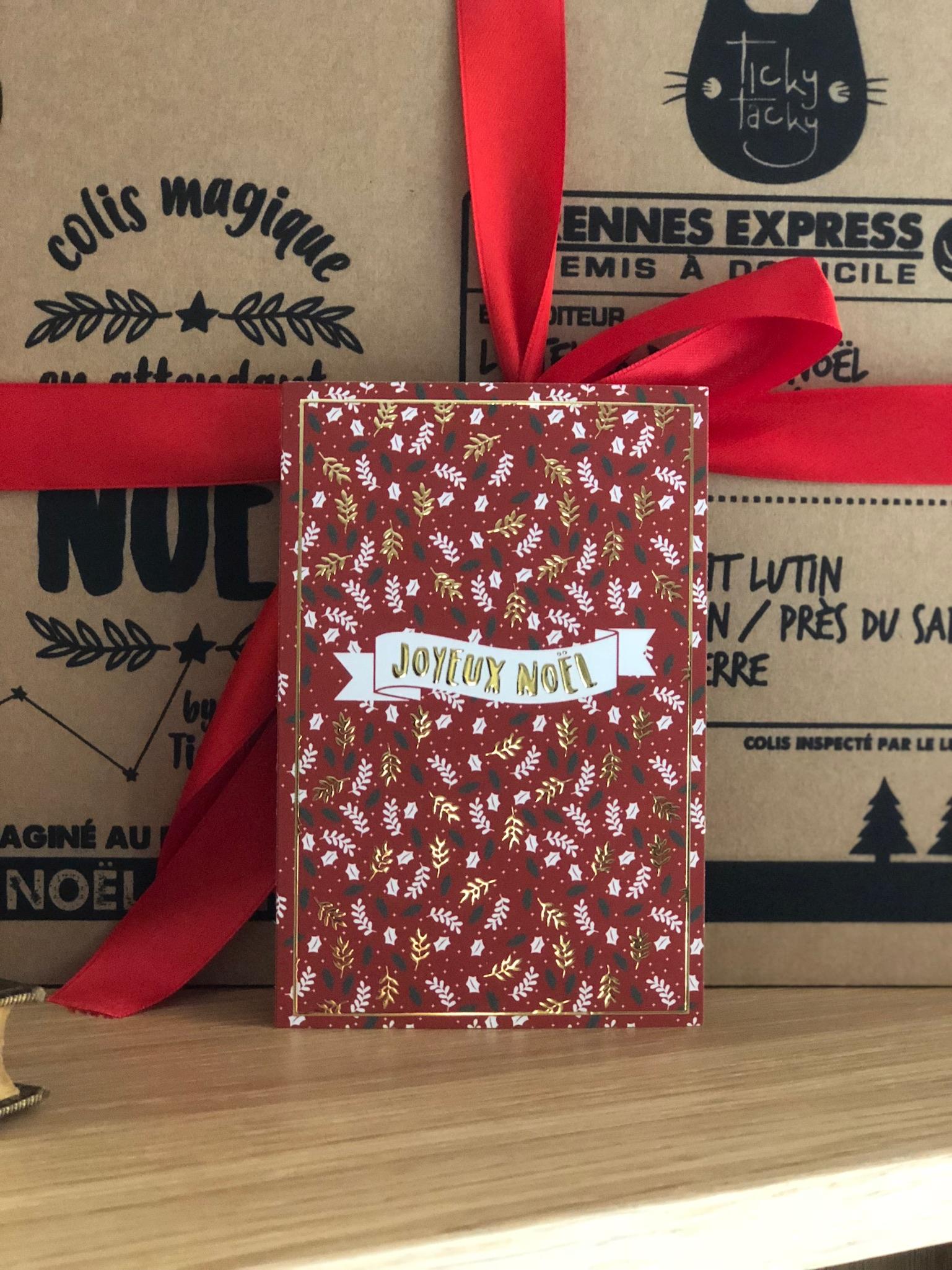 Lot de 5 cartes de Noël Joyeux Noël avec ses enveloppes