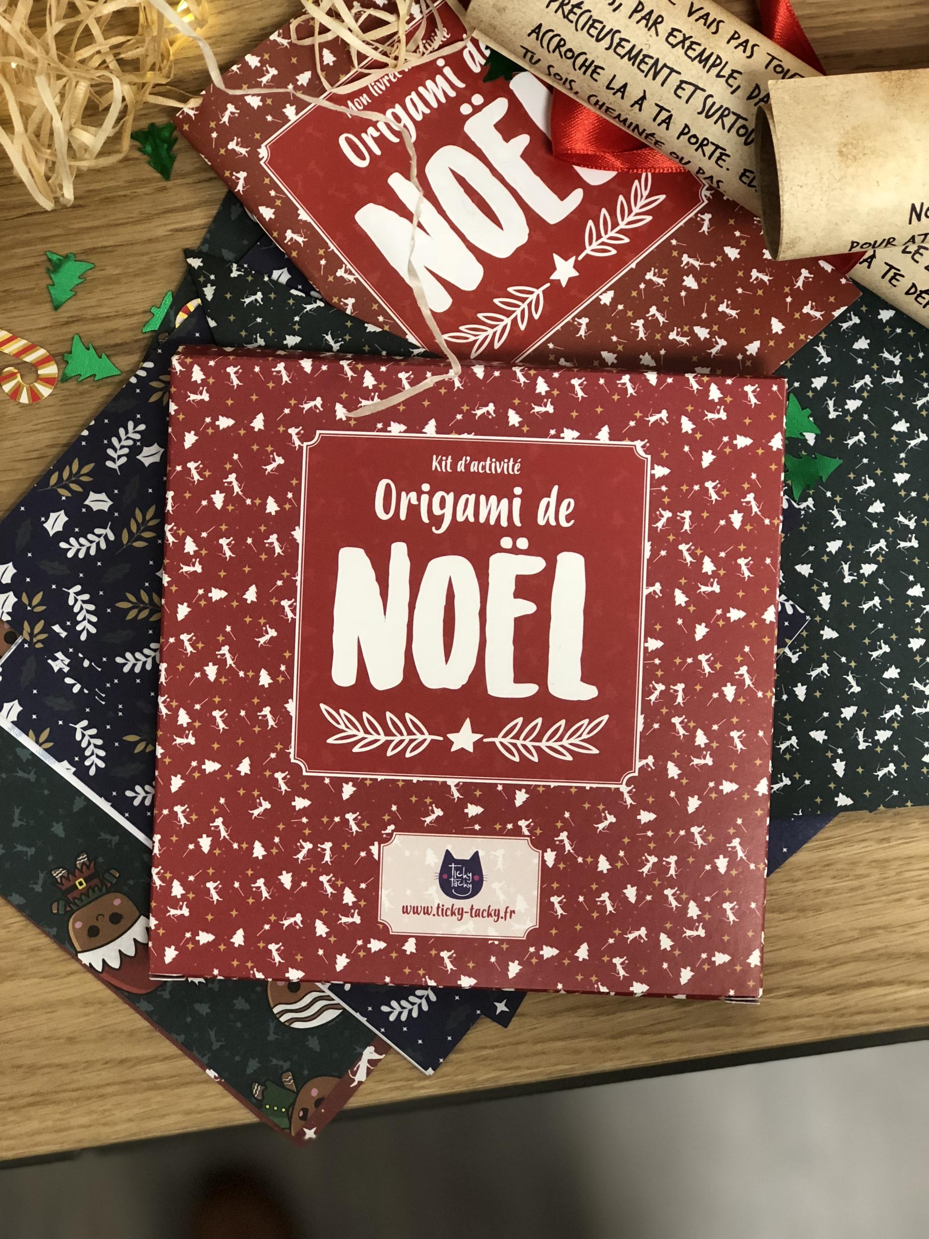Kit d\'activité : Origami de Noël