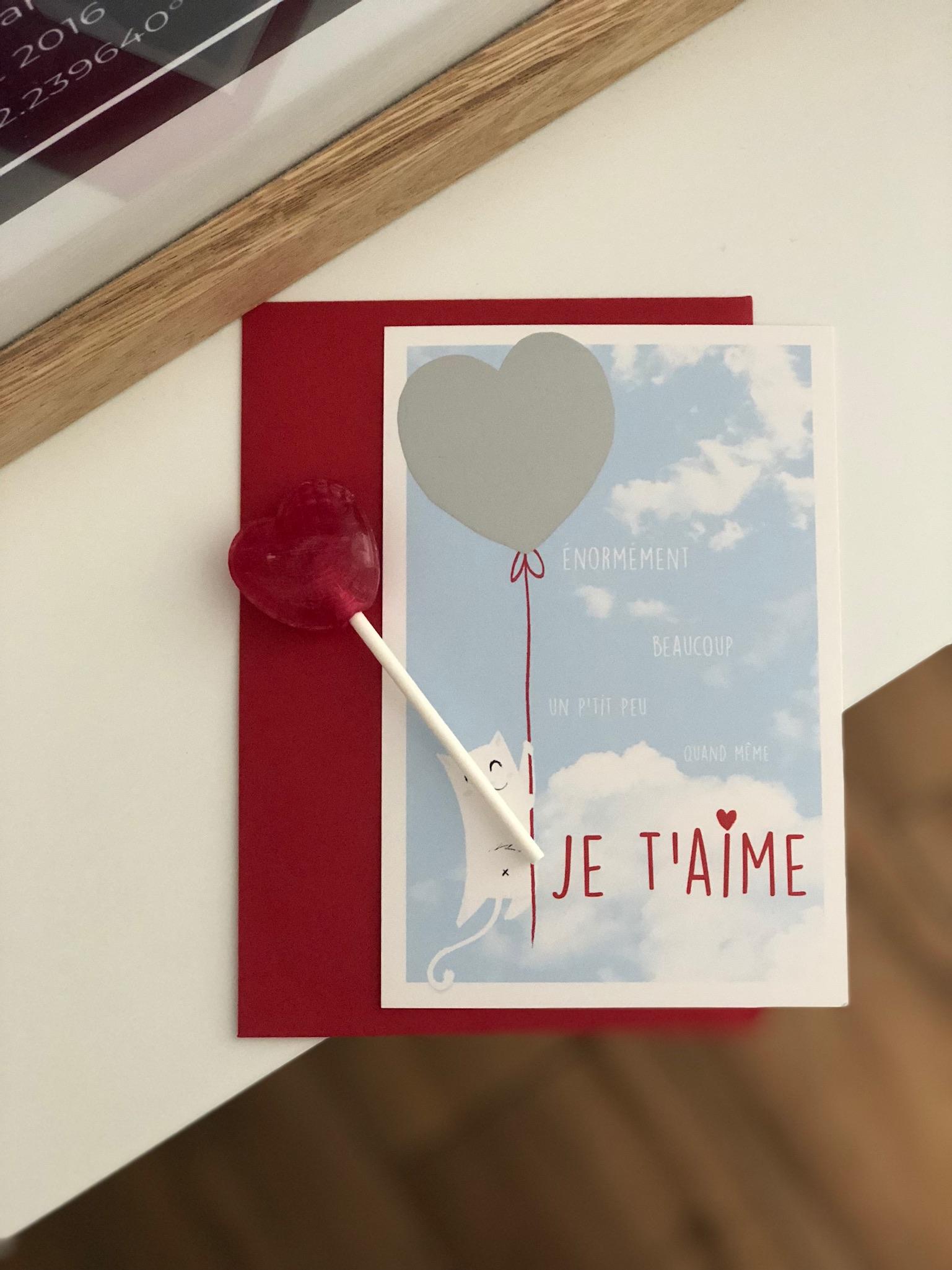 La carte d\'Amour à gratter et son enveloppe - Pour les petits et les grands amoureux!