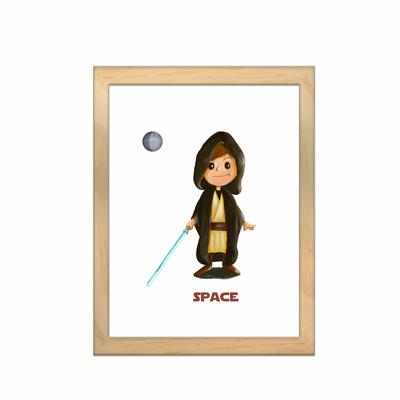 Miniz & Vous -illustration personnalisée - 18cm X 24cm – Space inspiré de Star Wars