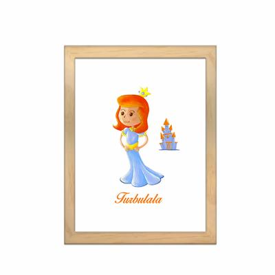 Miniz & Vous - illustration personnalisée -18cm X 24cm – Turbulala La Reine