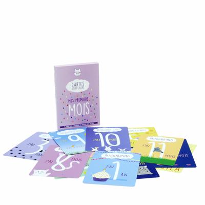 Cartes souvenirs Mes Premiers mois - 15 cartes étapes pour bébé