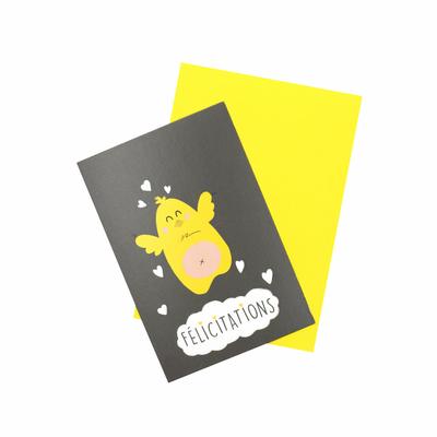 Carte & enveloppe Félicitations – Poussin
