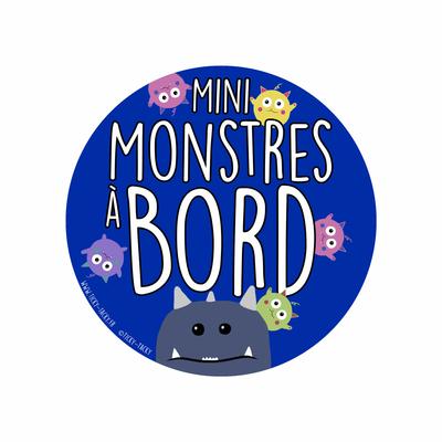 Stickers voiture – Mini Monstres à bord