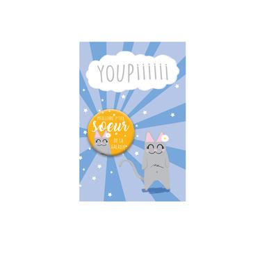 Kit Youpiii Meilleure p'tite soeur de la Galaxie – Carte et badge
