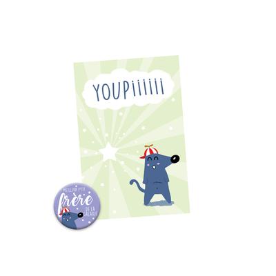 Kit Youpiii P'tit Frère - Carte et Badge