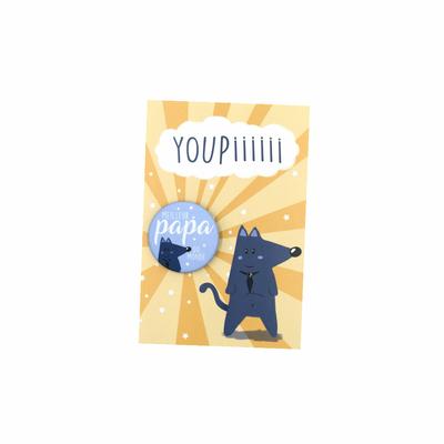 Kit Youpiii Meilleur Papa du Monde – Carte et badge