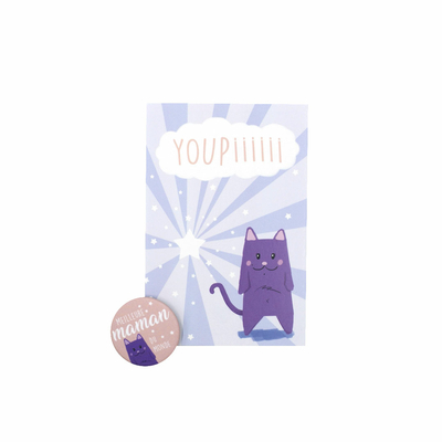 Kit Youpiii Maman – Carte et badge