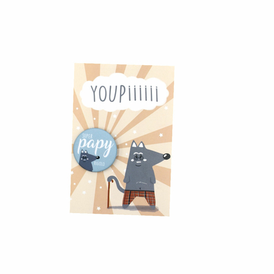 Kit Youpiii Super Papy Rigolo – Carte et badge