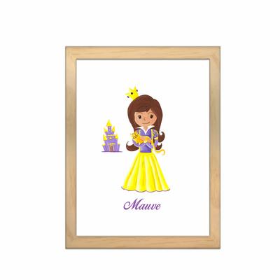 Miniz & Vous - illustration personnalisée -18cm X 24cm – Mauve La Princesse