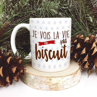 Mug - Je vois la vie en P'tit Biscuit