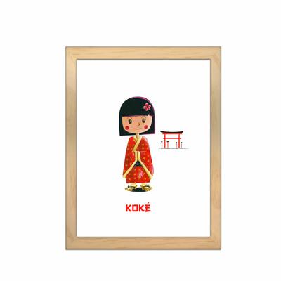 Miniz & Vous - illustration personnalisée -18cm X 24cm – Koké la poupée Japonnaise