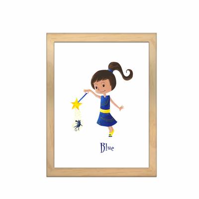 Miniz & Vous - illustration personnalisée -18cm X 24cm – Blue la fée