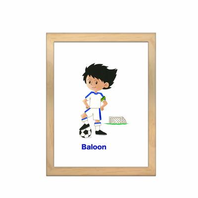 Miniz & Vous - illustration personnalisée -18cm X 24cm – Baloon le footballeur inspiré de Olive et Tom