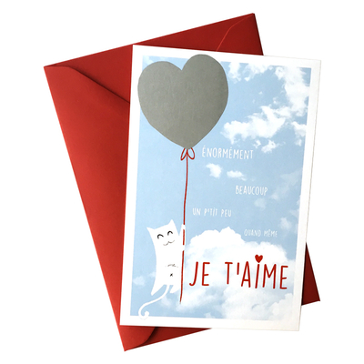 La carte d'Amour à gratter et son enveloppe - Pour les petits et les grands amoureux!