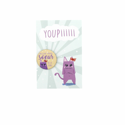 Kit Youpiii Soeur – Carte et badge