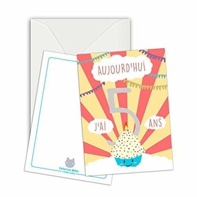 Maxi Carte Etape / Carte Anniversaire / Aujourd'hui, j'ai cinq ans