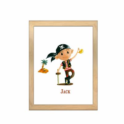 Miniz & Vous - illustration personnalisée -18cm X 24cm – Jack Le Pirate