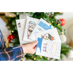 1-Lot-5-Cartes-Noel-Polaire-Ticky-Tacky