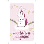 Invitation danniversaire Lilicorne la licorne