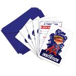 Invitation Anniversaire Super Hero Ticky Tacky