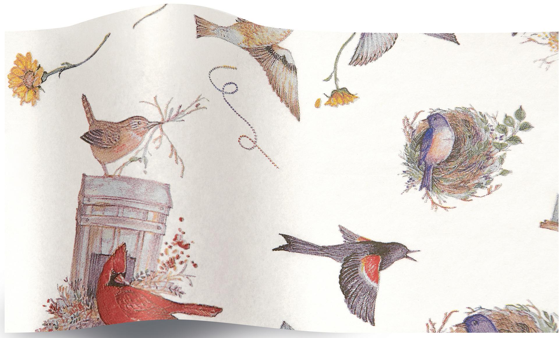 \'Birdy - 5 feuilles de papier de soie nid d\'oiseau