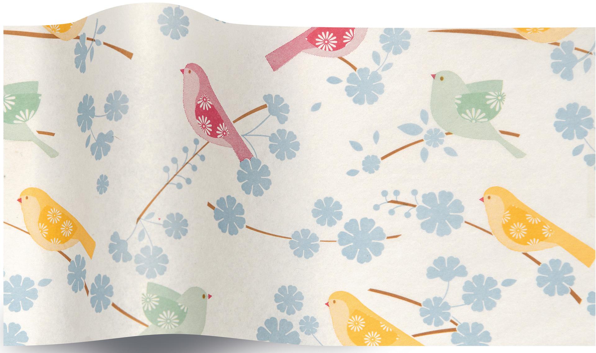 papier de soie oiseau