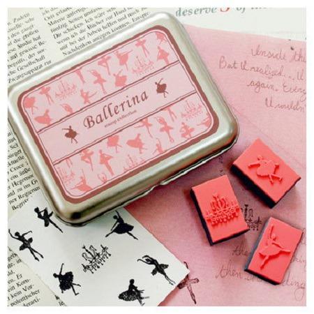 Ballerines - 9 petits tampons en mousse