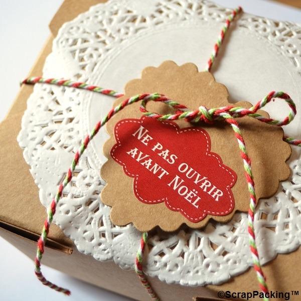 Ne pas ouvrir avant Noël - 6 stickers rouges